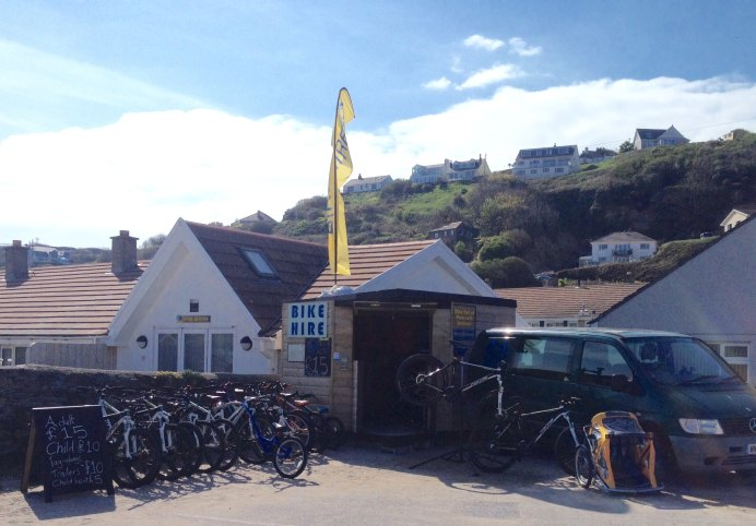 Mountain Bike Hire Cornwall.  Located at Portreath, IN the seafront car park